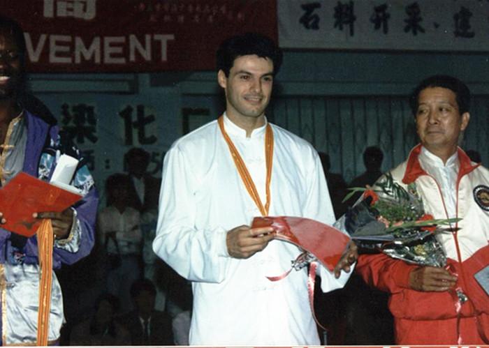 1993年Moreno在舟山参加世界武术大赛荣获第三名