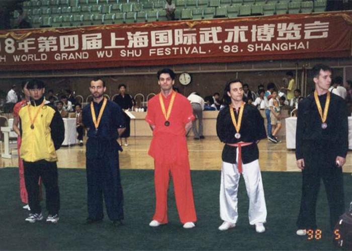 1998年Moreno在上海参加世界武术大赛荣获第一名